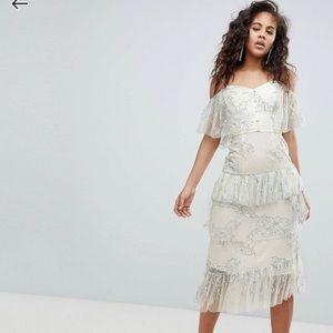 ASOS White Lace Midi dress
